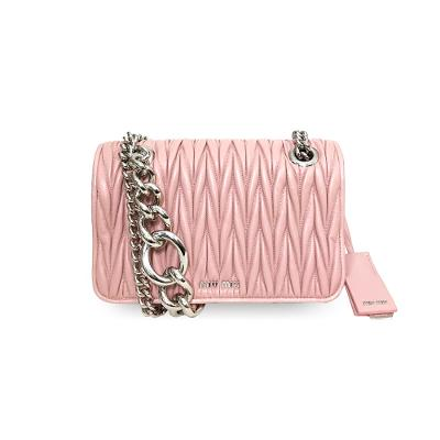 matelasse chain mini bag pink